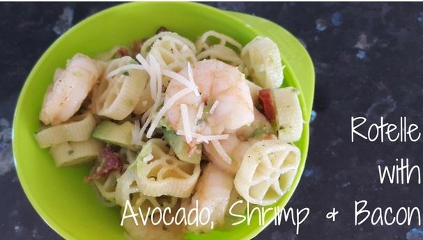 RotellewithAvocado, Shrimp & Bacon